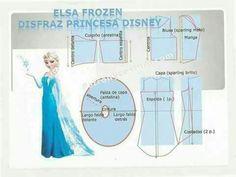 Risultati immagini per elsa frozen disfraz tu misma Vestido Elsa Frozen, Frozen Elsa Dress, Barbie Sewing Patterns, Doll Dress Patterns, Frozen Dress Pattern, Disney Princess Costumes, Princess Disney, Frozen Princess, Elsa Cosplay