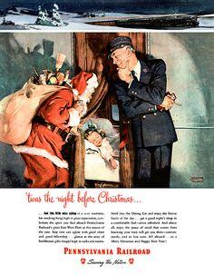 Vintage pre 1946 christmas santa
