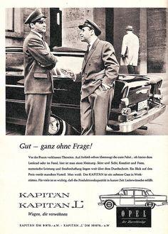 Opel Kapitän Magazine Ad / Zeitungsanzeige, AMS 1959 by Georg Schwalbach (GS1311), via Flickr