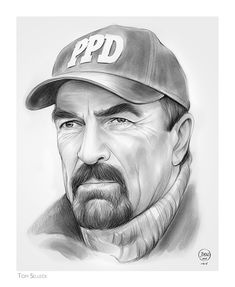 """Tom Selleck Thomas William """"Tom"""" Selleck (born January is an American actor and film producer. Jesse Stone, Tom Selleck, Celebrity Drawings, George Strait, Tough Guy, Portraits, Blue Bloods, American Actors, Gorgeous Men"""