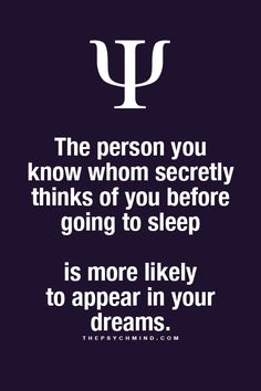 I dreamt of you and I wish this were true! Ha ha a few times !! I have this promise from God that I'd know and well confusion is not of God Plain and simple