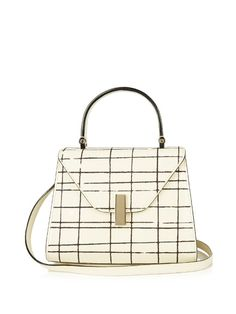 Valextra Iside mini embroidered grained-leather bag