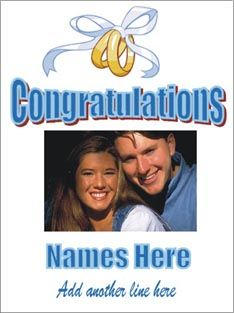 Engagement photo poster Welcome Home Banners, Graduation Banner, Custom Banners, Engagement Photos, Baby Shower, Names, Poster, Babyshower, Engagement Pics