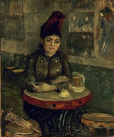 Vincent van Gogh, Agostina Segatori in the Cafe du Tambourin, 1887  My thesis painting.