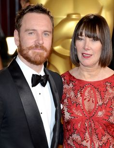 Michael Fassbender and his mom - 86th Annual Academy Awards
