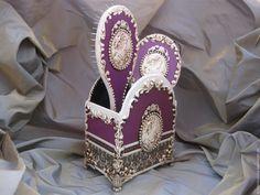 """Купить Будуарный набор """" Камея"""": ручное зеркало , расческа и подставка - комбинированный, декор для интерьера"""