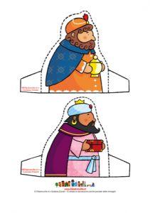 Wijzen uit het Oosten / Addobbi di Natale - Il Presepe, I Re Magi - Stampa, disegna e crea con Filastrocche.it
