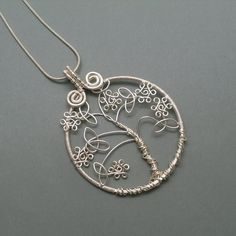 Celtic tree of life pendant tree of life por AnnaWireJewelry