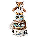 what a hoot diaper cake
