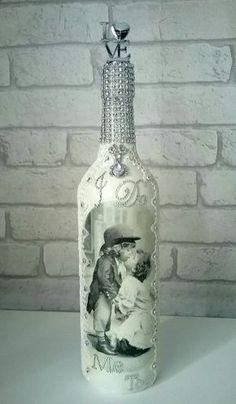 Wedding I do.. Me To altered wine bottle