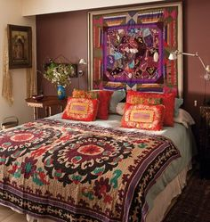 boho bedroom | Someone or something that has a Bohemian style typically evokes a ...