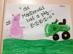 Mrs FDK Doyle - old macdonald footprint art