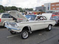 Really clean 1961 Pontiac Tempest Gasser. Pontiac Tempest, Old Hot Rods, Nhra Drag Racing, Drag Cars, Vintage Trucks, Vintage Motorcycles, Hot Cars, Custom Cars, Muscle Cars