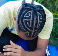 Sensational Braids for Men - DarlingNaija Cornrow Hairstyles For Men, Try On Hairstyles, Boys With Curly Hair, Braids For Black Hair, Natural Hair Twists, Natural Hair Styles, Corn Roll Hair Styles, Hair Designs For Boys, Braids For Boys