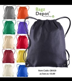 7e4d9f591f0d These Non-Woven Drawstring Backpacks are Great for Decorating with kids