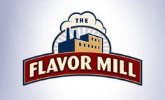 retro themed logo for potato chip packaging