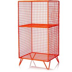 Free standing, wire storage unit in copper or neon orange with clean lines and an industrial feel. Galvanised wire with powder coating. 2 Shelves. Dimensions: H...