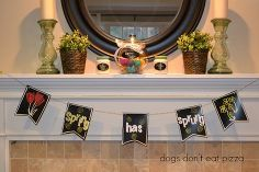 michaels pinterest party and a spring chalkboard banner, chalkboard paint, crafts