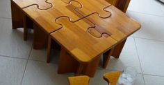 Puzzle table- too bad the last time I took wood shop was in 8th grade. | cool stuff/ technology | Pinterest | Puzzles, Puzzle Table and Wood Shops