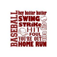 Baseball Sports Subway Vinyl Wall Kids Bedroom Nursery Decal Sticker. $9.99, via Etsy.