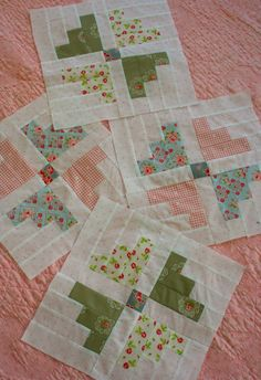 I was able to complete four blocks, over the weekend, in the Hill Farm quilt I am making.  The patte...
