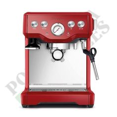 19b7d8ee58 Details about Breville Espresso Cappucino Machine Infuser Cranberry Red  BES840CBXL 110 Volts