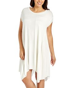 Look at this #zulilyfind! Ivory Sidetail Dress - Plus by Essentials by Elle #zulilyfinds