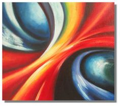 Abstract two way of Galaxy Painting on canvas