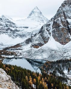 They call this place the Matterhorn of the Canadian Rockies.