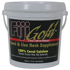 $64.49-$95.99 Fiji Gold Coral and Live Rock Supplement is 100% natural calcium derived from seawater and coral reef substrate. None of the natural resources utilized in this product are derived from living coral. This product can be used effectively to raise calcium, alkalinity and PH levels in your aquarium.Fiji Gold Coral and Live Rock Supplement is beneficial to all organisms especially those  ...