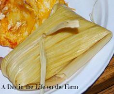 Sweet Corn Tamales.  Perfect Meatless Monday, Cinco de Mayo, dinner