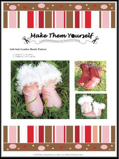 All Leather Soft-Sole Bootie Sewing E-Pattern  Toddler by mistymq