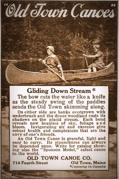 Old Town Canoes    johnsonoutdoors.com #classiccanoes  #oldstandardandcuttingedge