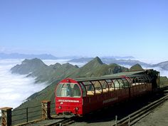 photo by rena5 on Flickr.  Brienzer Rothorn 2351m is a mountain in the Swiss Alps on the border between the cantons of Lucerne, Berne and Obwalden. The summit can be reached from Brienz by the Brienz Rothorn Bahn (steam train) and from Sörenberg by a cable car.