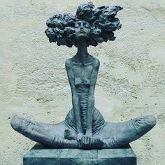 """490 Likes, 11 Comments - Afromentality (@afromentals) on Instagram: """"Repost @aishah_divine ・・・ Goddess power activated. Full Moon cycle ♐ Morning mood. Sculpture by…"""""""