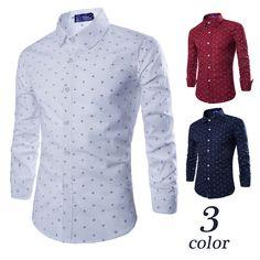 2015 Long Sleeve Anchor Print Casual Shirts