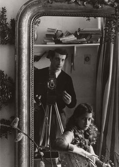 Self-portrait in Mirror, Paris (c.1951). Edouard Boubat (French, 1923-1999). In the Paris of Boubat and Robert Doisneau, couples kissed on the street, bakeries and cafes bustled with life, people looked to the future rather than grieving over the...