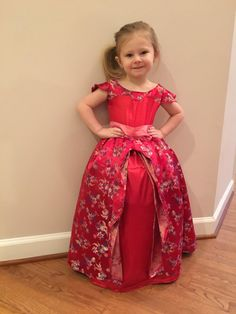 Elena of Avalor Floral Red Gown Dress by CUSTOMDesignsBySavi