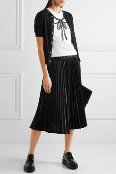 Comme des Garçons GIRL | Cotton and wool-blend cardigan | NET-A-PORTER.COM