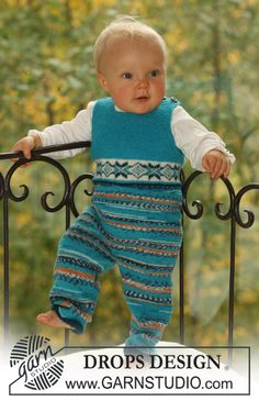 """DROPS jumpsuit in """"Fabel"""" and """"Alpaca"""", with or without button fastening between legs. ~ DROPS Design"""