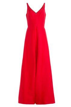 Halston Heritage - Cotton-Silk Evening Gown with Front Slit Check more at https://jacksbay.com/product/halston-heritage-cotton-silk-evening-gown-with-front-slit/?utm_source=pinterest