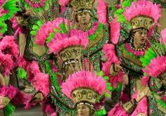 Mangueira escola de samba Brasil ~ tradicional pink and green colors