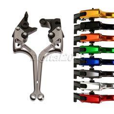 8Color Aluminum CNC Brake Clutch Levers Adjustable Motorbike Brake Lever for YAMAHA YZF-R125 2014-2015(FR25/YBR) Dirt Bike Parts #Affiliate