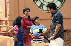 Bhaskar The Rascal Stills Nayantara, Mamootty with kids