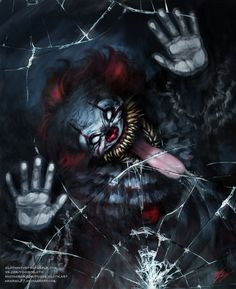 Pennywise by on DeviantArt Horror Movie Characters, Slasher Movies, Best Horror Movies, Horror Films, Scary Movies, Horror Art, Clown Horror, Creepy Clown, Horror Monsters