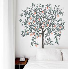 Fruit Tree Stencil