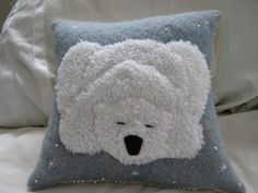 sleeping polar bear pillow