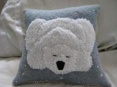 sleeping polar bear pillow