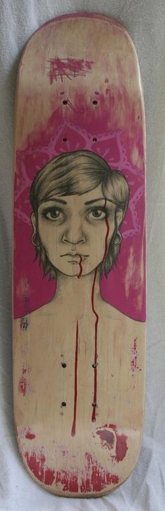 Original Handpainted Skateboard Portrait by mariahliisa on Etsy, $100.00