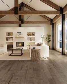 60 cool modern farmhouse living room decor ideas (53)